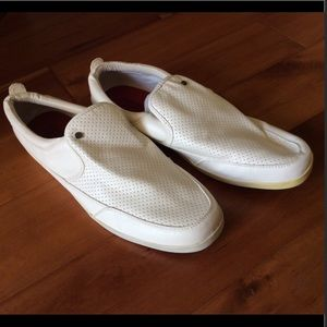 Steve Madden White loafer leather shoes Size 14
